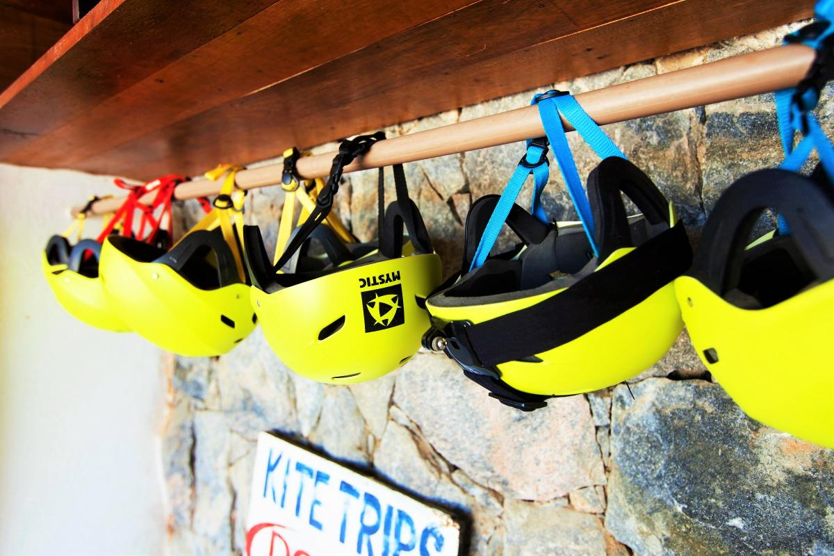 Helmets used for courses | Kiteschool Windtown