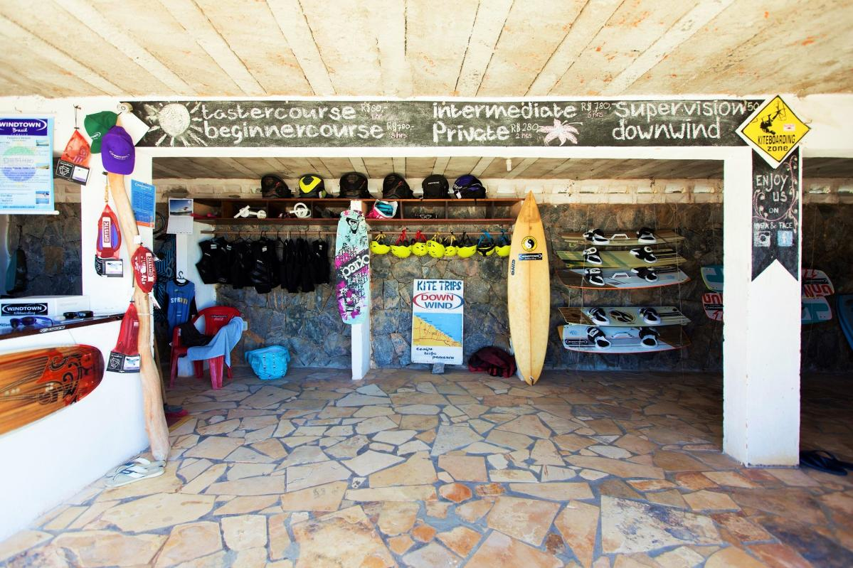 Inside the Kite Shop in Brazil | Kiteschool Windtown.com